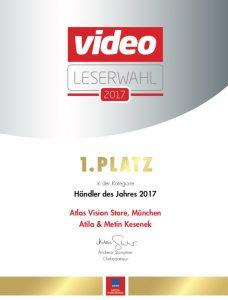 Auszeichnung Atlas Vision Onlineshop